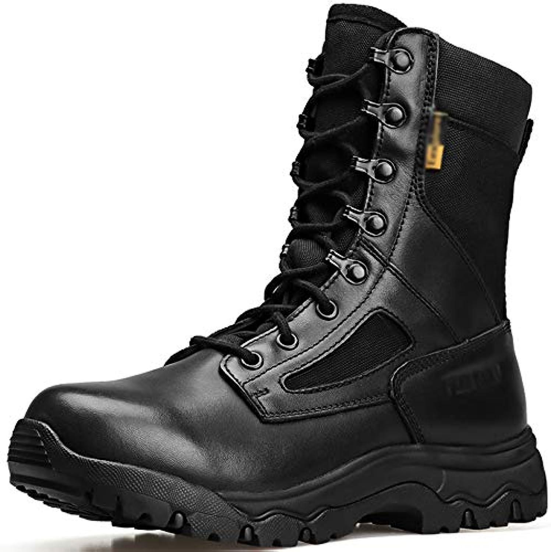 Uomo All'aperto Escursionismo Alpinismo High High High Top Stivali Deserto Military Police Esercito di Combattimento Scarpe...   Modalità moderna  1c1b28