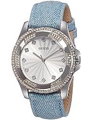 Guess Damen-Armbanduhr Analog Quarz Leder W0703L1