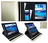 "i-Joy Memphis Tablet 10.1"" Crema Mariposa en Relieve Universal 360 Grados de Rotación Cuero PU Funda Carcasa Case Cover ( 9 - 10 Pulgadas ) de Sweet Tech"