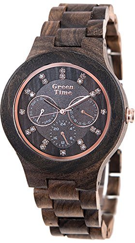 Green Time Unisex-Armbanduhr Analog Quarz Holz ZW025 A