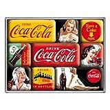 Nostalgic-Art 83072 Coca-Cola - Yellow Mix, Magnet-Set (9teilig)