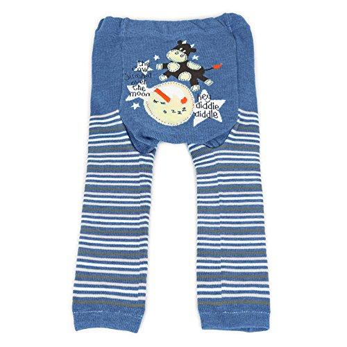Dotty Fish, Baby und Kleinkind Woll-Leggings Blau Hey Diddle Diddle - 95cm/24 + Monate
