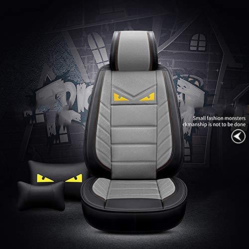 Preisvergleich Produktbild YSH Autositzbezug Leinen Four Seasons Universal Suit Sitzkissen Autozubehör, Grey