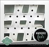 Heidi Swapp 312000 Marquee Love Formes Hashtag, Papier, Blanc, 21,6 x 21,6 x 5,6 cm