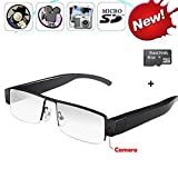 Mofek 8GB 1920x1080P HD Hidden Camera Glasses Eyewear Spy Cam DV Glasses Camcorder with Audio Recording Function
