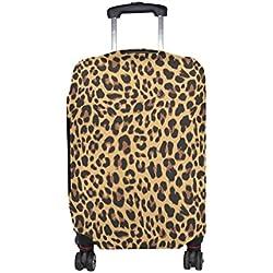 COOSUN Del diseño del leopardo impresión del modelo del equipaje del viaje cubiertas protectoras lavable Spandex equipaje Maleta Cubierta - Se adapta a 18-32 pulgadas S 18-21 en Multicolor