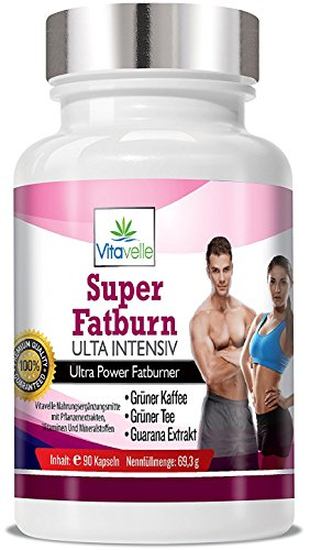 F-Burn Ultra Intensiv Diätpillen Abnehmpillen - Gewichtsreduktion - Green Coffee - Grüner Tee - Guarana - Super Fatburner