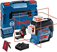 Bosch Professional 12V System Linienlaser GLL 3-80 C (1x Akku 12V, Universalhalterung BM 1, m. App-Funktion, r