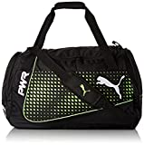 PUMA EvoPower M Bag Sporttasche, Black-Green Gecko, 56 x 28 x 5 cm