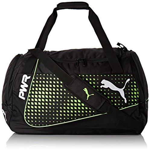 PUMA EvoPower M Bag Sporttasche, Black-Green Gecko, 56 x 28 x 5 cm