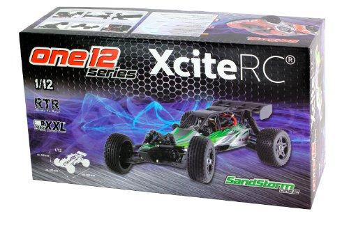 XciteRC 30407000 RC Auto Shortcourse one12 - 2WD Ready To Race Modellauto, grüne Karosserie 1:12 mit 2.4 GHz Fernsteuerung - 12