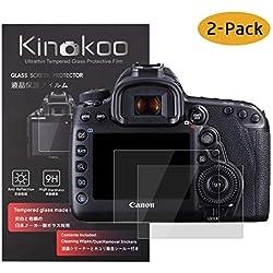 kinokoo Film de Verre trempé pour Canon EOS 5D Mark IV Film de Protection d'écran Crystal Clear Canon EOS 5D IV sans Bulles/Anti-Rayures (Paquet de 2)