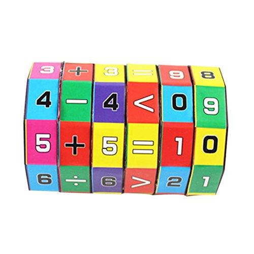 Ode_Joy Nuovi Bambini Bambini Matematica Numeri Magic Cube Toy Puzzle Game Gift bambino Varietà di cubi digitali Giocattoli di educazione matematica (Multicolore, 6*9cm)