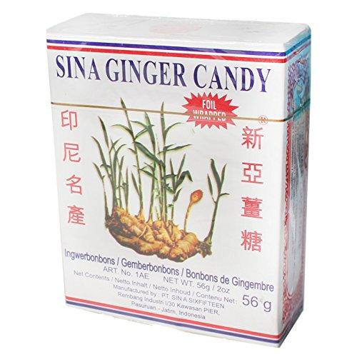 Preisvergleich Produktbild SINA Ingwer Bonbons 10x56g