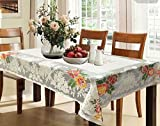 #1: Kuber Industries™ Cream Shining Printed Cloth Net Dining Table Cover 6 Seater 60*90 Inches