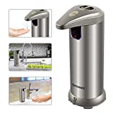 Soap Dispenser, OPERNEE Automatic Soap Dispenser 280ML Stainless Steel Countertop Touchless Sensor Soap Hand Free Motion Sensor with Waterproof Base for Kitchen Bathroom