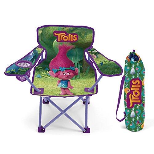 Kinder Campingstuhl AUSWAHL Spiderman Hello Kitty Minnie Maus Klappstuhl Stuhl Sessel Gartenstuhl (Trolls)