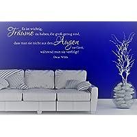 Wandtattoo-Wandaufkleber Spruch/Zitat v. OSCAR WILDE ***Es ist wichtig, Träume zu haben,...*** Größe und Farbe frei wählbar!