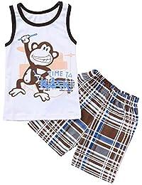 Conjunto De Ropa para Niño, YpingLonk Camiseta para Niños Sin Mangas Peleles Mono Ropa Niña