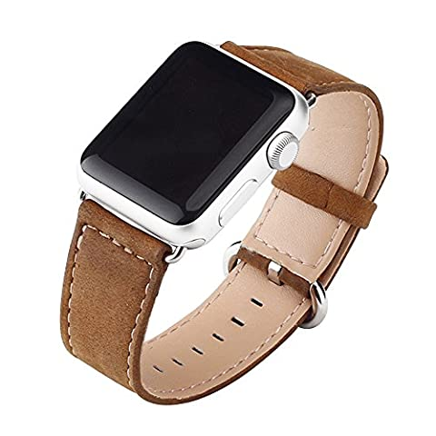 Cuitan Durable PU Leather Watch Band for 38mm Apple Watch iWatch, with Adapter Replacement Watchband Wrist Band Bracelet Strap Wristband for Apple Watch (Not included