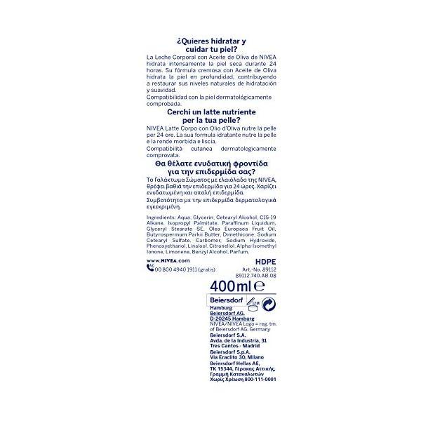Nivea Loción Hidratante Corporal Aceite de Oliva – 400 ml