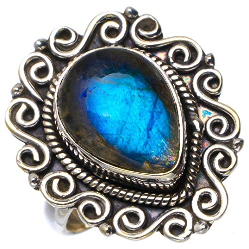 925 Silver Natural Turquoise CZ Ring Women Men Wedding Engagement Jewelry Sz6-10