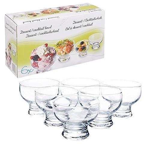 Set of 6 Short Stemmed Glass Dessert Sundae Icecream Cocktail