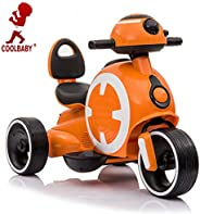 COOLBABY Ride On Motorcycle,3 Wheels Motorbike for Children Boys & Girls, Toy Children Tricycle 1-6 Years