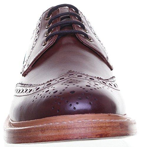 Reece Justin Dylan renforcées en cuir GoodYear mat pour chaussures Marron - Brown AG6