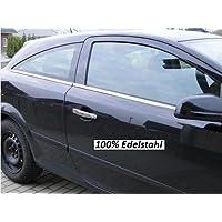 Opel Astra H GTC listones de cromo Ventana Juego de 4 piezas de acero inoxidable