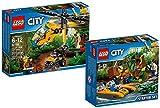 LEGO City 60158 - Dschungel-Frachthubschrauber + LEGO City 60157 - Dschungel-Starter-Set