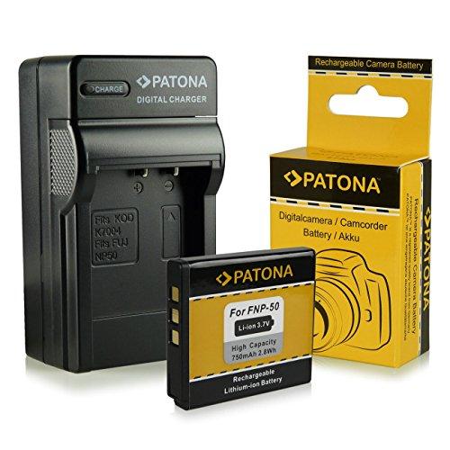 PATONA 4en1 Chargeur + Batterie Fuji NP-50 Kodak Klic-7004 Pentax D-Li68 D-Li122 pour Fujifilm FinePix F70EXR F80EXR F200EXR F300EXR F500EXR F600EXR