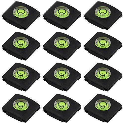 Caches Protective pour Porte-Griffe de Flash, SENHAI Lot de 12 Niveau à Bulle Protection pour Griffe de Sabot, pour Canon Nikon Panasonic Fujifilm Olympus Sigma PENTAX DSLR SLR Reflex