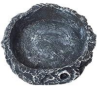 Mackur Creative - Cuenco de comida para mascotas (gris, 8 x 8 x 2 cm), color gris