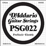 D\'Addario Corde seule pour guitare électrique D\'Addario ProSteels PSG022, .022