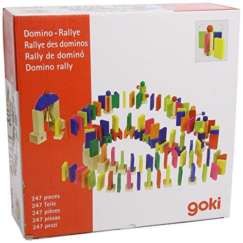 Goki 58963 - Juego de fichas de dominó de colores