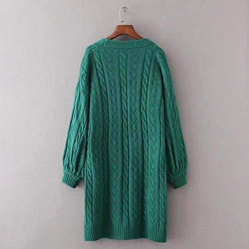 WTUS -Echarpe Twist Torsadée Couleur Pure - Femme Nouveau 2017 Vert