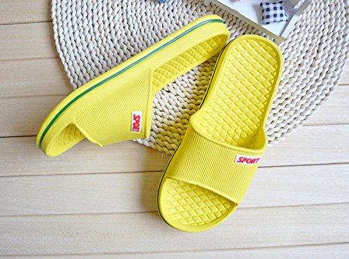 Sommer Männer Frauen Hausschuhe Bad Anti-Rutsch Hausschuhe Schuhe Gelb