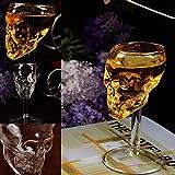 Knochen Krieger Schädel Kopf mit Klaue Golbet Trinkbecher Glas Mittelalterlichen Skeleton Kelch Schädel Tasse Drache Klaue Doppelwand Trinken Becher Kristall