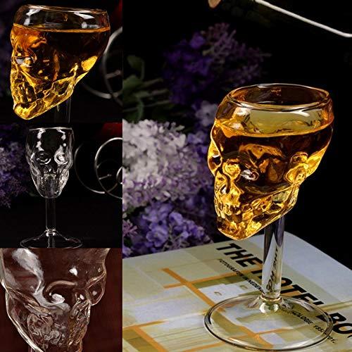 opf Kopf mit Klaue Golbet Trinkbecher Glas Mittelalter Skelett Kelch Totenkopf Cup Drachenklaue Doppelwand Trinkkelch Kristall ()
