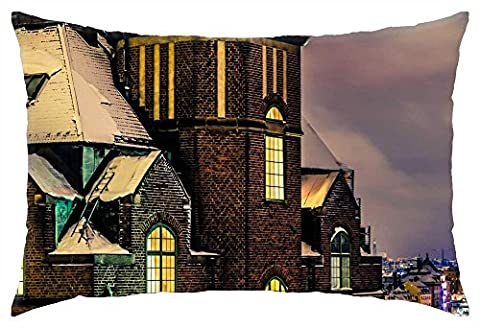 iRocket - beautiful holiday view of stockholm at night - Throw Pillow Cover (16