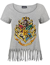 Harry Potter Hogwarts Crest Women's Fringe Top