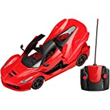 Zest 4 Toyz, Plastic Remote Controlled Rechargeable Ferrari Like Car with Opening Doors -,(car openable door, Multi Colour)