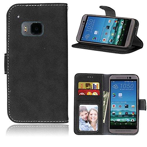 Ecoway Custodia in pelle Retro Frosted PU per HTC One M9,Caso / copertura / telefono (Lampade Inoltre Legno Lampada Da Tavolo)