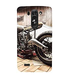 For LG G3 S :: LG G3 S Duos :: LG G3 Beat Dual :: LG D722K :: LG G3 Vigor :: LG D722 D725 D728 D724 motorcycle, home made bike, vintage bike Designer Printed High Quality Smooth Matte Protective Mobile Case Back Pouch Cover by APEX