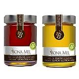 100% roher Bio Zitronenhonig + Bio Lavendelhonig, reine Imkerabfüllung aus Spanien, nur eigene Bienen