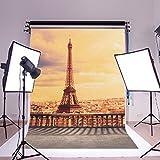 1,5x 2,1m digitale Vinyl-Fotografie vom Pariser Eiffelturm, Fotoposter im Hintergrund