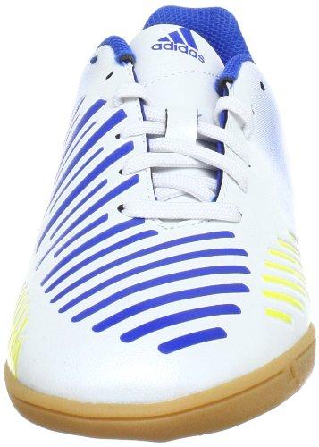 adidas Performance  Predito LZ IN J, Chaussures de Football garçon Blanc - Blanc Running FTW/jaune Vivid S13/bleu Prime S12