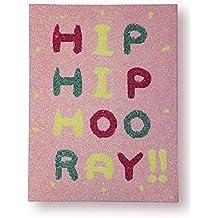 Arthouse, Arthouse Hip Hooray pared arte Lienzo, color rosa brillante