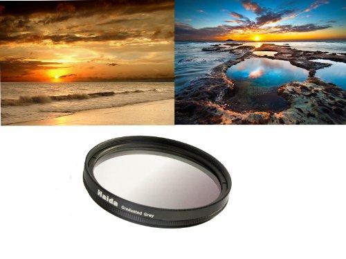 Grau Verlaufsfilter für Digitalkameras 55mm Filterdurchmesser
